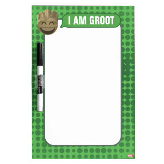 """I Am Groot"" Text Emoji Dry-Erase Boards"