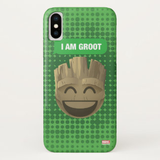 """I Am Groot"" Text Emoji iPhone X Case"