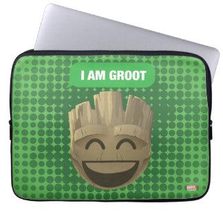 """I Am Groot"" Text Emoji Laptop Sleeve"