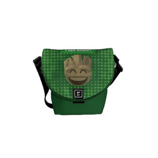 """I Am Groot"" Text Emoji Messenger Bag"