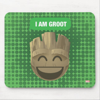 """I Am Groot"" Text Emoji Mouse Pad"