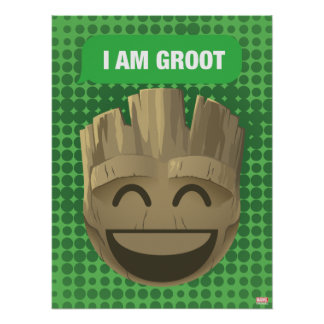 """I Am Groot"" Text Emoji Poster"