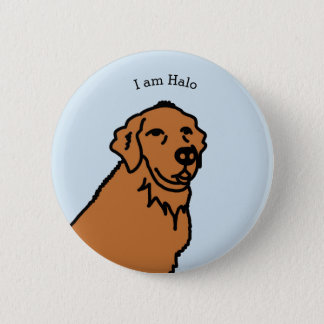 I am Halo illustration 6 Cm Round Badge