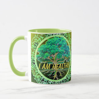 I Am Healthy Tree of Life Mug