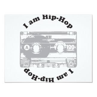 "I Am Hip-Hop 4.25"" X 5.5"" Invitation Card"