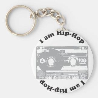 I Am Hip-Hop Basic Round Button Key Ring