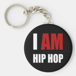 """I AM HIP HOP"" RED LETTER KEY RING"