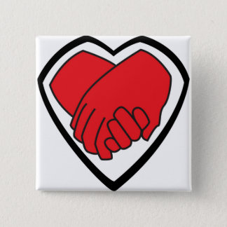 I Am Holding Your Hand by @LoganC_Jones 15 Cm Square Badge