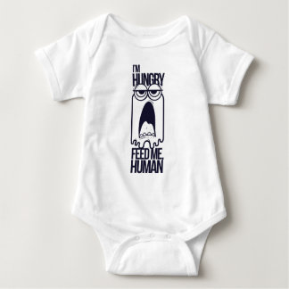 i am hungry feed me human baby bodysuit