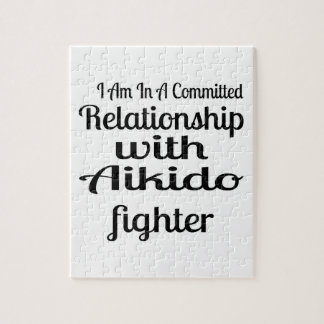 I Am In A Committed Relationship With Aikido Fight Jigsaw Puzzle