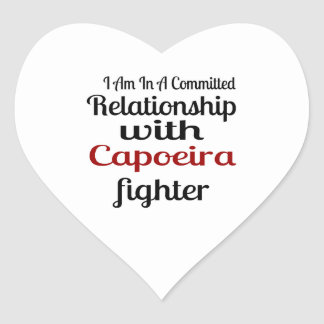 I Am In A Committed Relationship With Capoeira Fig Heart Sticker