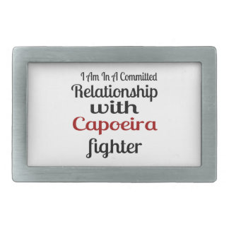 I Am In A Committed Relationship With Capoeira Fig Rectangular Belt Buckles