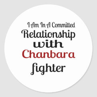 I Am In A Committed Relationship With Chanbara Fig Classic Round Sticker