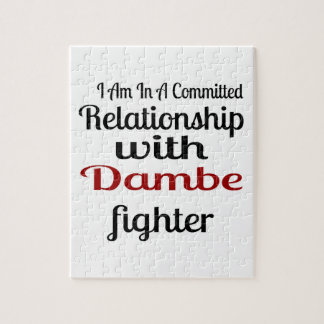 I Am In A Committed Relationship With Dambe Fighte Jigsaw Puzzle