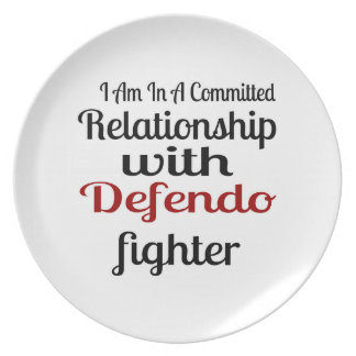 I Am In A Committed Relationship With Defendo Figh Plate