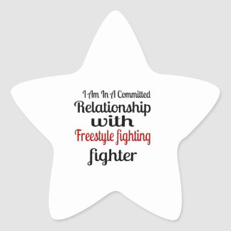 I Am In A Committed Relationship With Freestyle fi Star Sticker