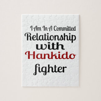 I Am In A Committed Relationship With Hankido Figh Jigsaw Puzzle