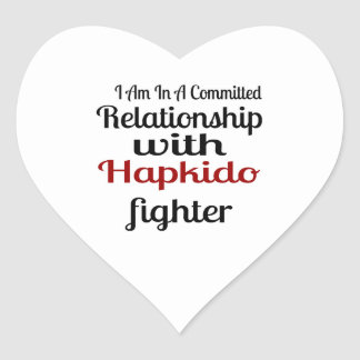 I Am In A Committed Relationship With Hapkido Figh Heart Sticker