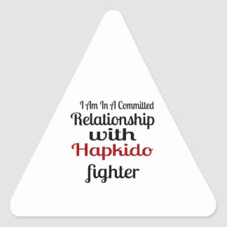 I Am In A Committed Relationship With Hapkido Figh Triangle Sticker