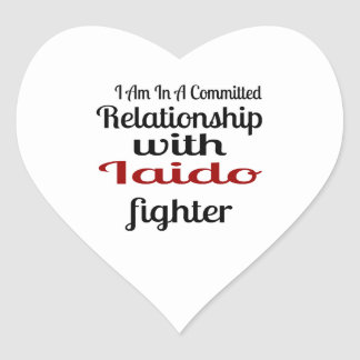 I Am In A Committed Relationship With Iaido Fighte Heart Sticker