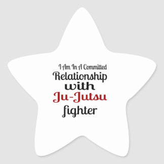 I Am In A Committed Relationship With Ju-Jutsu Fig Star Sticker