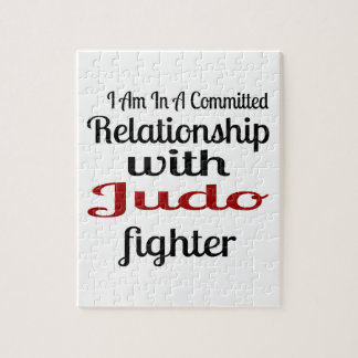 I Am In A Committed Relationship With Judo Fighter Jigsaw Puzzle