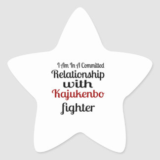 I Am In A Committed Relationship With Kajukenbo Fi Star Sticker
