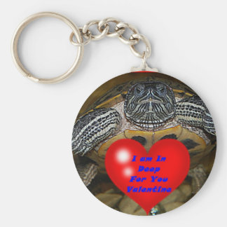 I am In Deep For You Valentine Turtle Keychain
