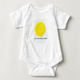 I am inspired by nature, sun baby bodysuit