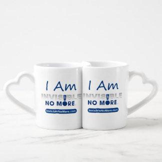 I Am Invisible No More - Heart Mug Set