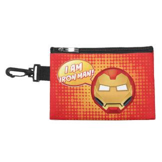 """I Am Iron Man"" Emoji Accessory Bag"