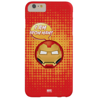 """""""I Am Iron Man"""" Emoji Barely There iPhone 6 Plus Case"""