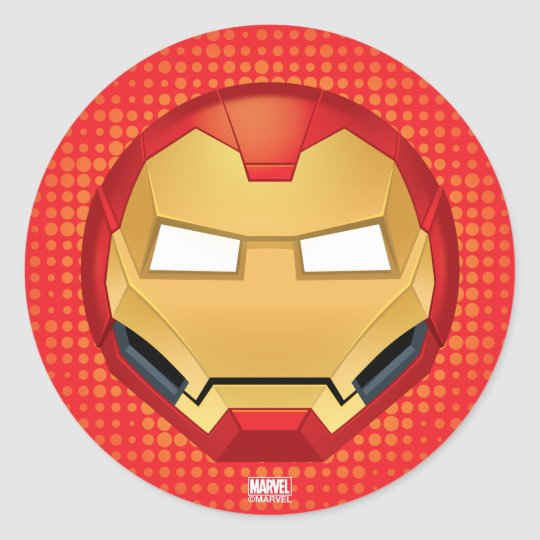I am iron man emoji classic round sticker