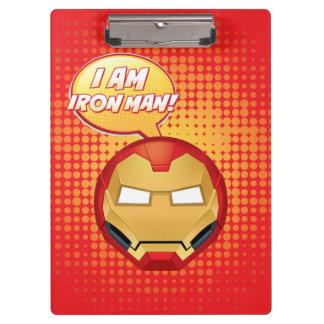 """""""I Am Iron Man"""" Emoji Clipboard"""