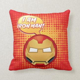 """""""I Am Iron Man"""" Emoji Cushion"""