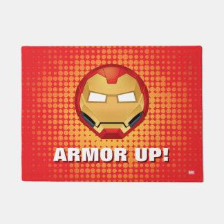 """I Am Iron Man"" Emoji Doormat"