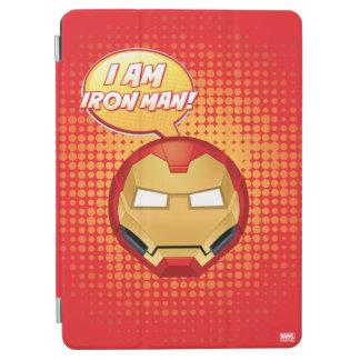 """I Am Iron Man"" Emoji iPad Air Cover"