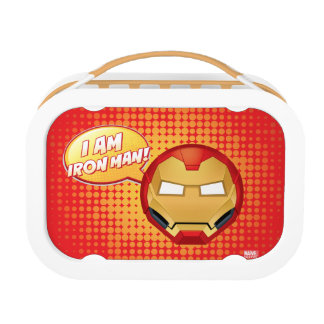 """I Am Iron Man"" Emoji Lunch Box"