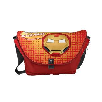 """""""I Am Iron Man"""" Emoji Messenger Bag"""