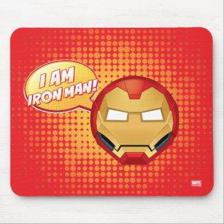 """I Am Iron Man"" Emoji Mouse Pad"