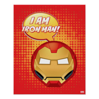 """I Am Iron Man"" Emoji Poster"