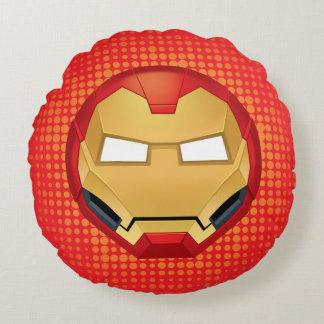 """I Am Iron Man"" Emoji Round Cushion"