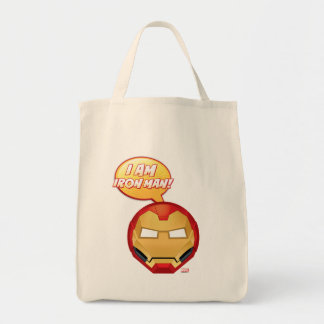 """I Am Iron Man"" Emoji Tote Bag"