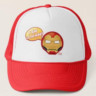 """I Am Iron Man"" Emoji Trucker Hat"