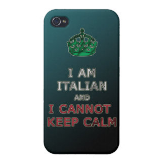 i am italian and i cannot keep calm funny phone iPhone 4/4S cover