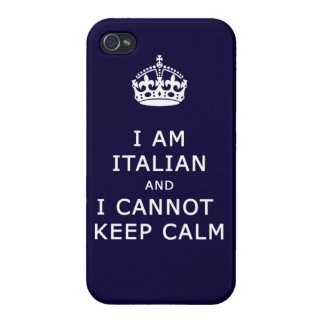 i am italian and i cannot keep calm funny phone iPhone 4 cover