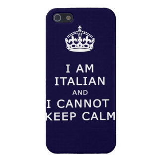 i am italian and i cannot keep calm funny phone iPhone 5/5S covers