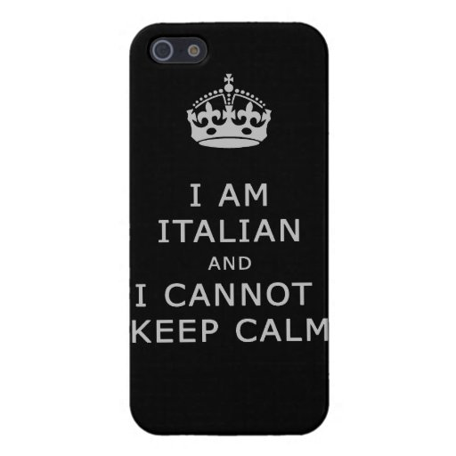 i am italian and i cannot keep calm funny phone iPhone 5 cover