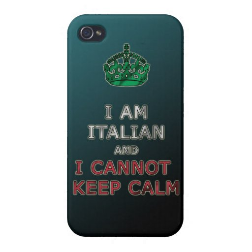 i am italian and i cannot keep calm funny phone cover for iPhone 4