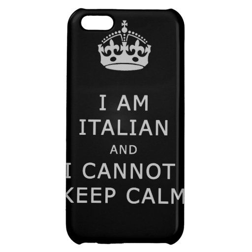 i am italian and i cannot keep calm funny phone iPhone 5C covers
